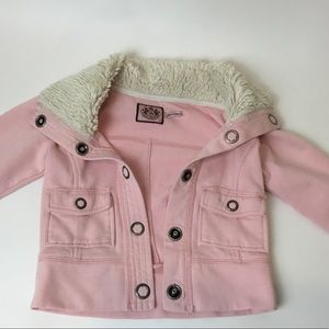 Juicy Couture Pink Winter Jacket Girls Size 5th